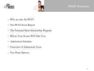 PSAT Overview