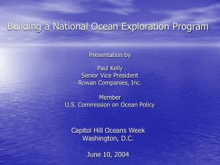 Building a National Ocean Exploration Program