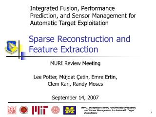 Sparse Reconstruction and Feature Extraction