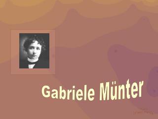 Gabriele M nter