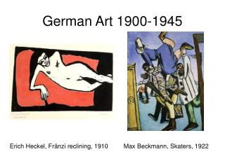 German Art 1900-1945