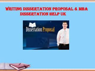 Writing MBA Dissertation Help UK