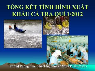 TỔNG KẾT TÌNH HÌNH XUẤT KHẨU CÁ TRA QUÍ 1/2012