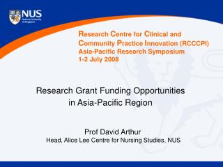 Research Grant Funding Opportunities in Asia-Pacific Region