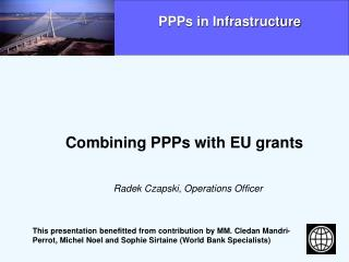 Combining PPPs with EU grants