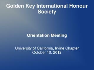 Golden Key International Honour Society