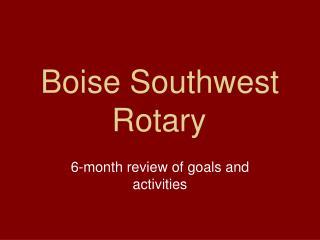 Boise Southwest Rotary