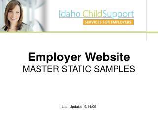 Employer Website MASTER STATIC SAMPLES