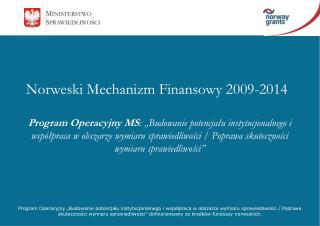 Norweski Mechanizm Finansowy 2009-2014