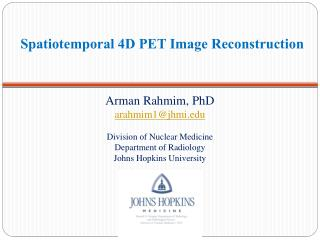Spatiotemporal 4D PET Image Reconstruction