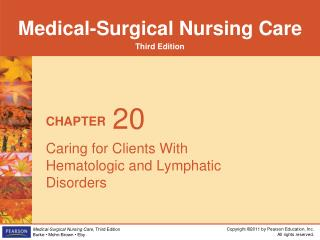 Caring for Clients With Hematologic and Lymphatic Disorders
