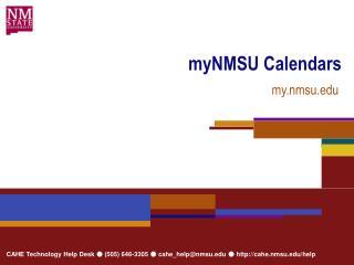 myNMSU Calendars
