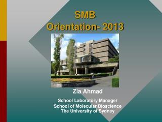 SMB Orientation- 2013