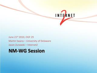 NM-WG Session