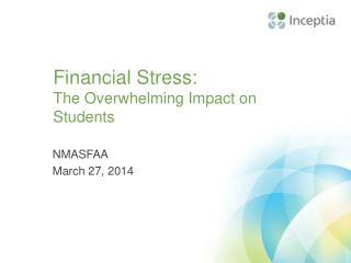 Financial Stress:  The Overwhelming Impact on Students