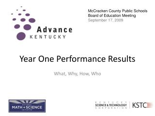 Year One Performance Results
