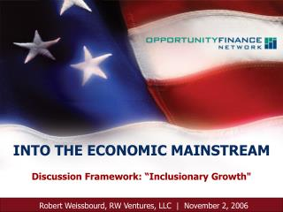 "Discussion Framework: ""Inclusionary Growth"