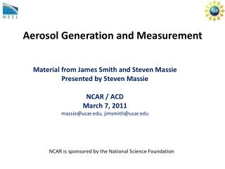Aerosol Generation and Measurement