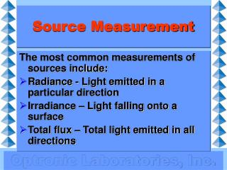 Source Measurement