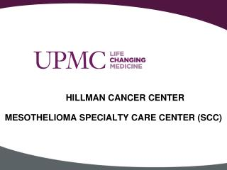 HILLMAN CANCER CENTER