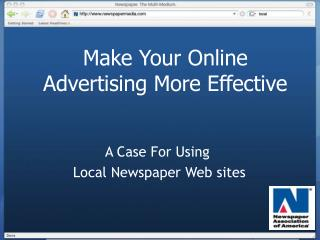 Make Your Online Advertising More Effective