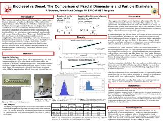 Biodiesel vs Diesel: The Comparison of Fractal Dimensions and Particle Diameters
