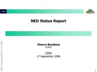 NED Status Report