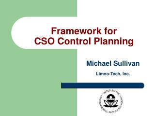 Framework for  CSO Control Planning