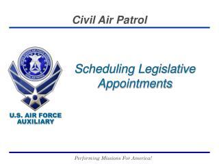 Scheduling Legislative Appointments