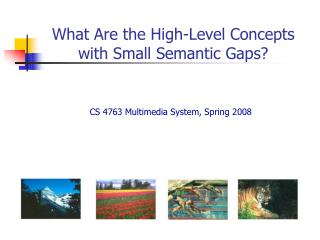 What Are the High-Level Concepts with Small Semantic Gaps?