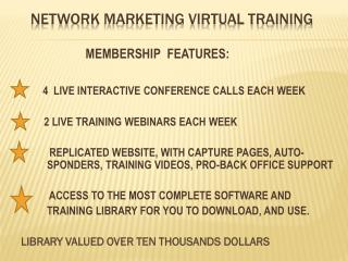 NETWORK  MARKETING VIRTUAL TRAINING