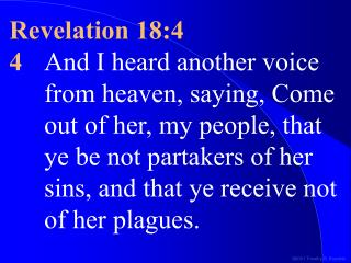 Revelation 18:4