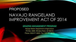 Navajo Rangeland Improvement Act of 2014