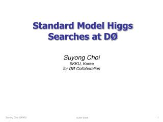 Standard Model Higgs Searches at D Ø