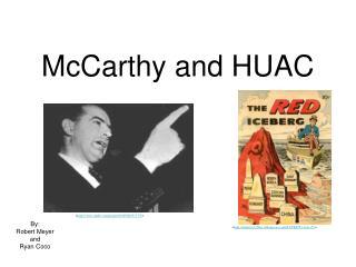 McCarthy and HUAC