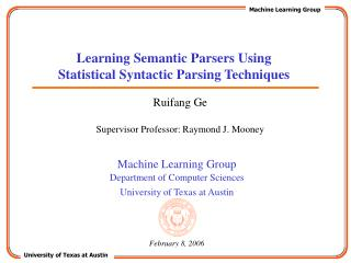 Learning Semantic Parsers Using Statistical Syntactic Parsing Techniques
