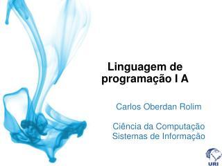 Linguagem de programação I A