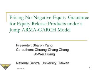Pricing No-Negative-Equity-Guarantee for Equity Release Products under a Jump ARMA-GARCH Model