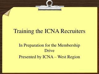 Training the ICNA Recruiters