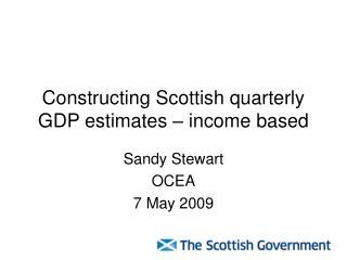 Constructing Scottish quarterly GDP estimates – income based