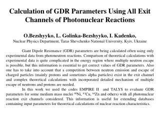 Calculation of GDR Parameters Using All Exit Channels of Photonuclear Reactions
