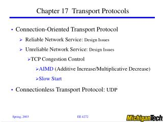 Chapter 17  Transport Protocols
