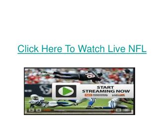 Click Here To Watch Live NFL