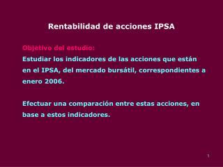 Rentabilidad de acciones IPSA