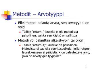 Metodit – Arvotyyppi