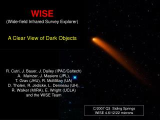 WISE (Wide-field Infrared Survey Explorer) A Clear View of Dark Objects