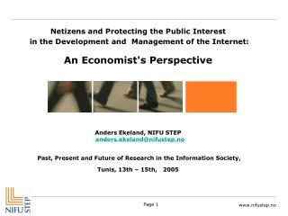 Netizens and Protecting the Public Interest  in the Development and Management of the Internet: