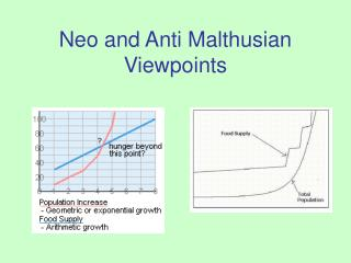 Neo and Anti Malthusian Viewpoints