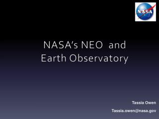 NASA's NEO  and  Earth Observatory
