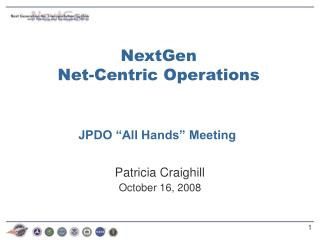 "JPDO ""All Hands"" Meeting"